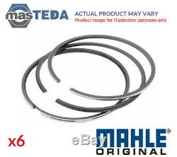 6x MAHLE ENGINE PISTON RING SET 033 16 N0 G STD NEW OE REPLACEMENT