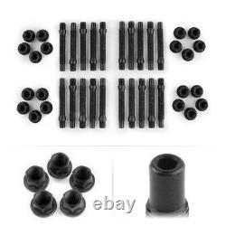 Apex 90mm M12 Bmw 5 Lug Hex Head Stud Kit Black