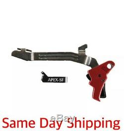 Apex Tactical 102-157 for Glock G43 G43X G48 Action Enhancement Trigger Kit Red