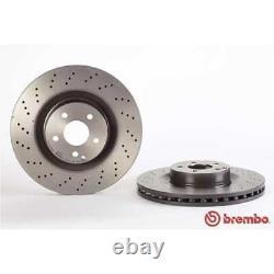 BREMBO 2x Bremsscheiben Gelocht/innenbel. Beschichtet 09. A817.11