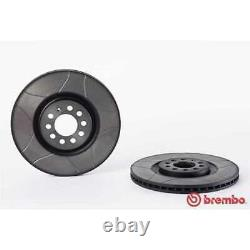 BREMBO 2x Bremsscheiben Geschlitzt Innenbelüftet beschichtet 09.7880.75