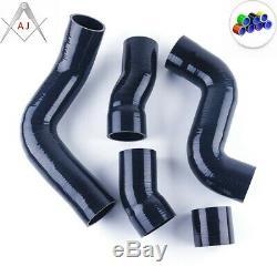 Black For Audi TT 225HP 1.8T 1999-2006 APX BAM BFV Silicone Intercooler Hose Kit