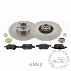 Bremsensatz HA für RENAULT LAGUNA III mit ABS Ring und integriertem Radlagersatz