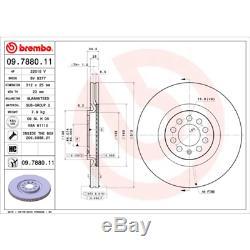 Bremsscheibe (2 Stück) BREMBO XTRA LINE Brembo 09.7880.1X