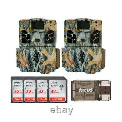 Browning Trail Cameras 18MP Dark Ops Apex Game Cam Two-Pack Kit with 32GB SD Cards