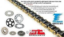 Ducati 1100 Monster / S 09-10 Tsubaki Alpha Gold X-Ring Chain & JT Sprocket Kit