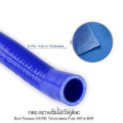 For Audi TT 225HP 1.8T 1999-2006 APX BAM BFV Blue Silicone Intercooler Hose Kit