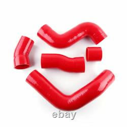 For Audi TT 225HP 1.8T 1999-2006 APX BAM BFV Silicone Intercooler Hose Kit Red