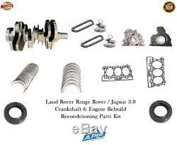 Forged Jaguar 3.0 Crankshaft 306dt Range Rover Engine Rebuild Reconditioning Kit