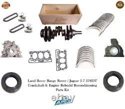 Jaguar 2.7 Cigüeñal 276dt Range Rover Motor Reacondicionamiento De Repuestos Kit