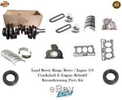 Jaguar 3.0 Crankshaft 306dt Range Rover Engine Rebuild Reconditioning Parts Kit