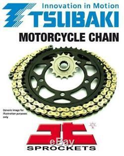 Kawasaki KLE650 Versys 06-16 Tsubaki Alpha Gold X-Ring Chain & JT Sprocket Kit