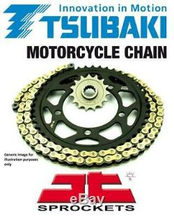 Kawasaki ZR550 Zephyr 91-98 Tsubaki Alpha Gold X-Ring Chain & JT Sprocket Kit