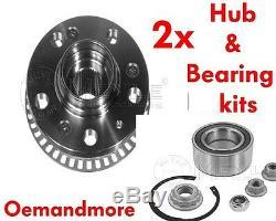 Meyle Front Bearing & Hub Kit X2 Vw Golf Mk4 Inc 1.8t Gti V5 V6 (pair)