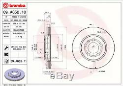 Rear Set of 2x Brake Discs BREMBO 09. A652.11