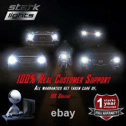 Stark APX 90W 9600LM LED 6000K White Headlight Dual Hi / Lo Bulbs Kit H13 9008