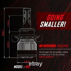 Stark APX Snowmobile LED Bulbs 90W 9600LM 6000K Headlight Kit Hi / Lo Dual H13