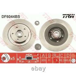 TRW 2x Bremsscheiben Voll DF6044BS