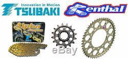 Triumph Daytona 675 / 675R Renthal Race Chain & Sprocket Kit 2013-2015