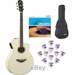 Yamaha APX600 VW Thin Body Acoustic-Electric Guitar withsoft case, strings &picks