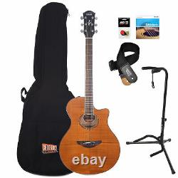Yamaha APX600FM Flame Maple Amber Acoustic-Electric Guitar Essentials Bundle