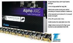 Yamaha XS400 DOHC 1982 Tsubaki Alpha Gold X-Ring Chain & JT Sprocket Kit