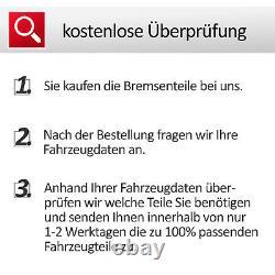 ZIMMERMANN SPORT BREMSEN SET HINTEN 2 BREMSSCHEIBEN Ø256 + 4 BREMSBELÄGE Audi A3