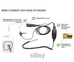 Arc T22075 2 Fils Surveillance Kit Oreillette Pour Motorola Multibroches Xpr Et Apx