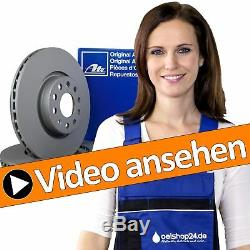 Ate Bremsen Kit Komplett Für Hinten + 2 Bremsscheiben Ø 256 MM + 4 Bremsbeläge