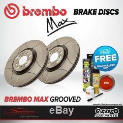 Brembo Max Avant Ventilé Haute Teneur En Carbone Rainuré Disque De Frein Paire Disques X2 09.7880.75
