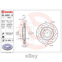 Bremsscheibe (2 Stück) Brembo Xtra Line Brembo 09. A652.1x