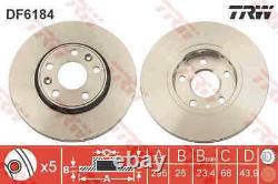 Bremsscheiben Satz Paar Trw Df6184 2pcs I Für Renault Megane Iii, Laguna III
