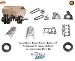 Jaguar 3.0 Vilebrequin 306dt Range Rover Engine Rebuild Kit Pièces Reconditionnement
