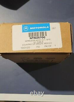 Motorola Oem Casque Audio Écouteur Sans Fil Kit Ntn2570c Apx Series Radios Ntn2570