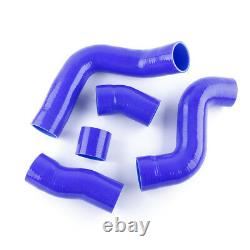 Pour Audi Tt 225hp 1.8t 1999-2006 Apx Bam Bfv Silicone Intercooler Hose Kit Bleu