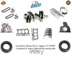 Range Rover 2.7 Forgé Vilebrequin Et Land Rover 276dt Engine Rebuild Kit De Pièces