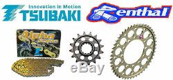 Triumph Daytona 675 / 675r Renthal Race Chain & Pignons Kit 2013-2015